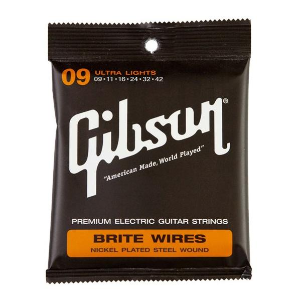 Gibsonギブソンエレキギター弦BriteWiresSEG-700ULUltraLight(09-42)