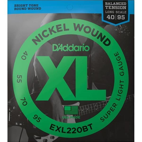 D'Addario ダダリオ エレキベース弦 EXL220BT Balanced Tension Nickel Wound Electric Bass Strings (Super Light)