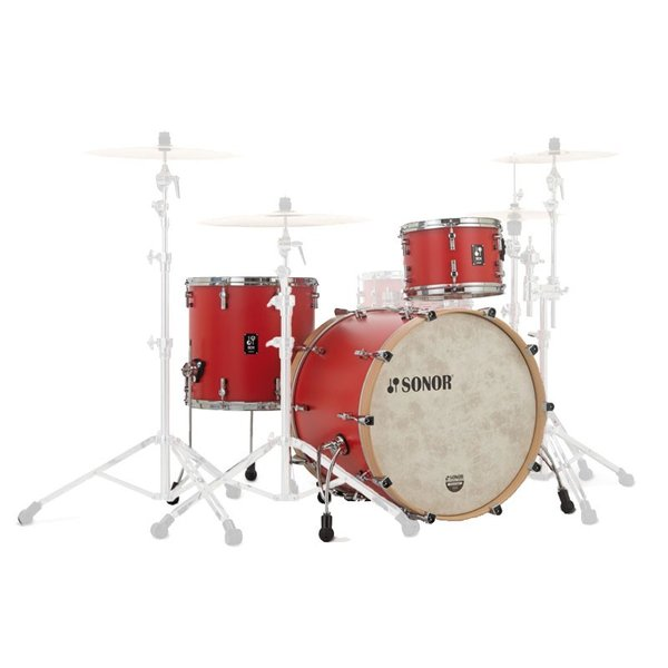 SONOR SQ1-320:HRR (SQ1 Series / 20BD Shell Set(20BD・12TT・14FT):HOT ROD RED) (お取り寄せ品)