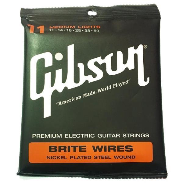 Gibsonギブソンエレキギター弦BriteWiresSEG-700MLMediumLight(11-50)