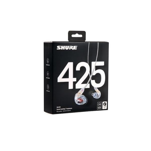 SHURE / SE425-CL-A (クリアー)【新パッケージ】【国内正規品・2年間保証】|shibuya-ikebe