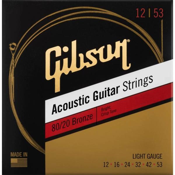 Gibsonギブソンアコースティックギター弦80/20BronzeAcousticGuitarStrings(SAG-BRW12