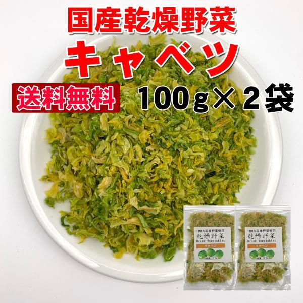 送料無料  乾燥キャベツ200g 国産乾燥野菜 100g×2袋 旨味をとじ込めたエアドライ製法