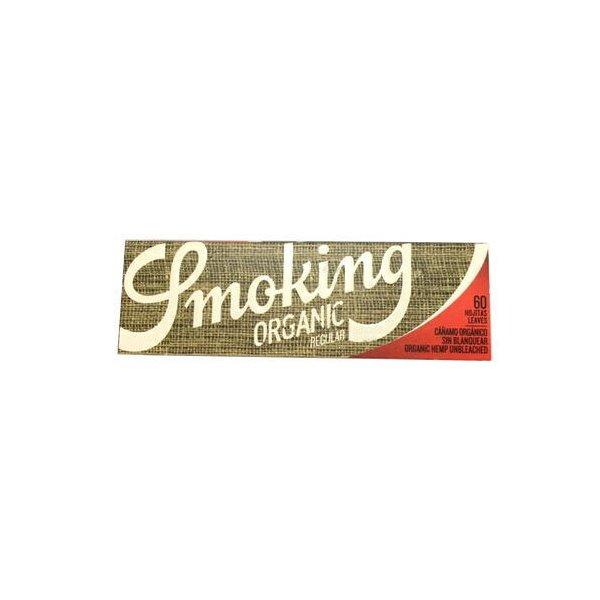 smoking スモーキング オーガニック シングルペーパー 60枚入り シャグ 喫煙具 手巻き メール便250円対応