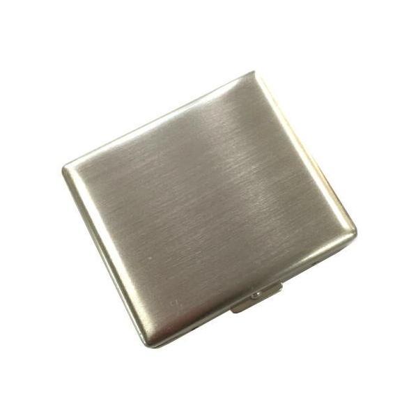 RYO ケース20 手巻きたばこ用 シングル70mm スリム 20本いれ メタルシガレットケース (ニッケルサテン)  シャグ 坪田パール メール便250円対応