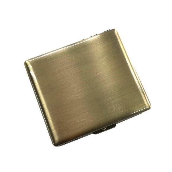 RYO ケース20 手巻きたばこ用 シングル70mm スリム 20本いれ メタルシガレットケース (真鍮古美)  シャグ 坪田パール メール便250円対応