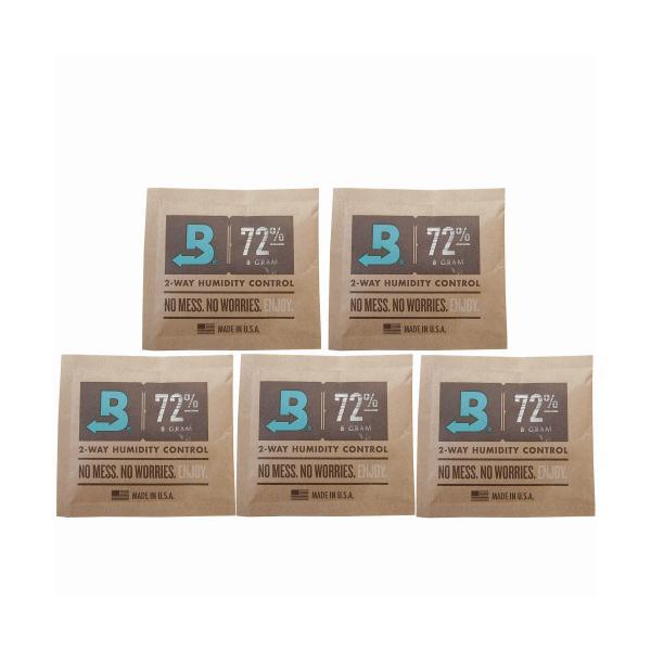 手巻き パイプタバコの保湿用 ボベダ ヒュミディパック 5個セット boveda humidipak 72% 携帯加湿器 ヒュミドール メール便250円対応
