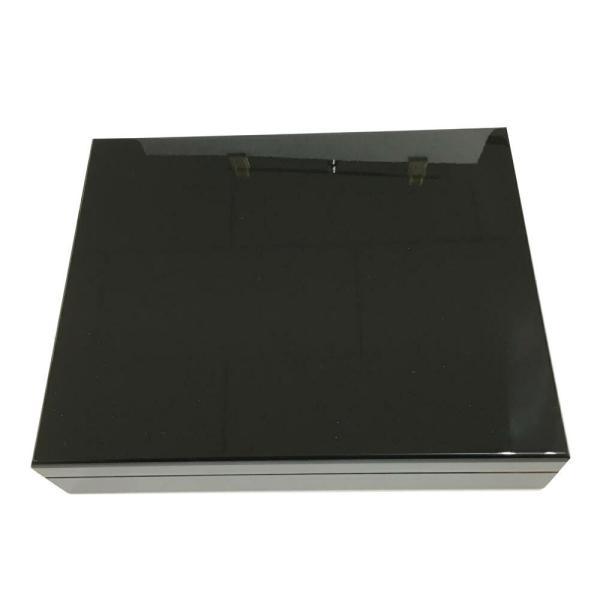 木製 オリジナル シガーボックス HL110B ヒュミドール 湿度計付きセット ブラック 取寄せ品