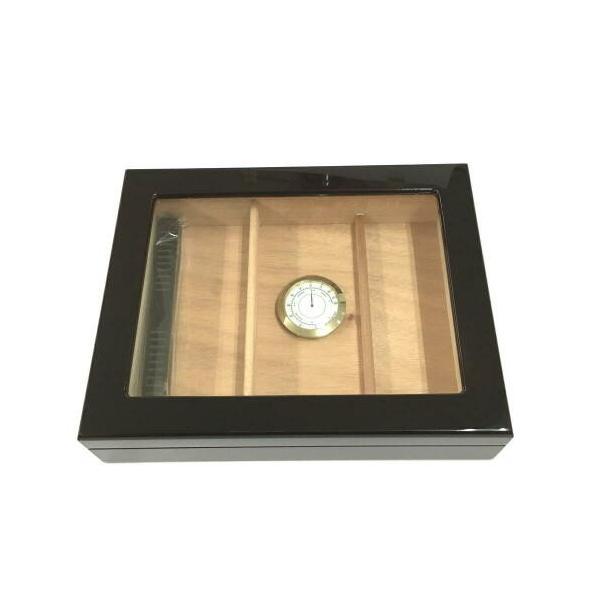 木製 オリジナル シガーボックス HL110g ヒュミドール 湿度計付きセット 取寄せ品
