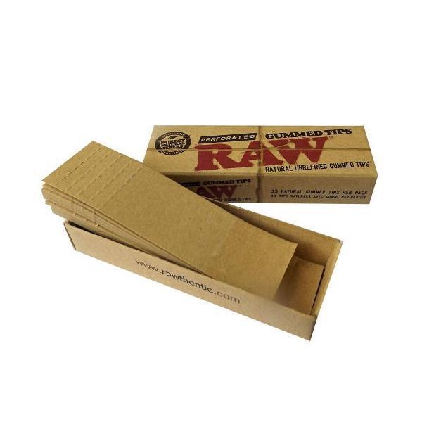 RAW ロー  ロウ ガムド・チップス 33枚入り フィルター 喫煙具 手巻きタバコ シャグ のり付きチップ メール便250円対応