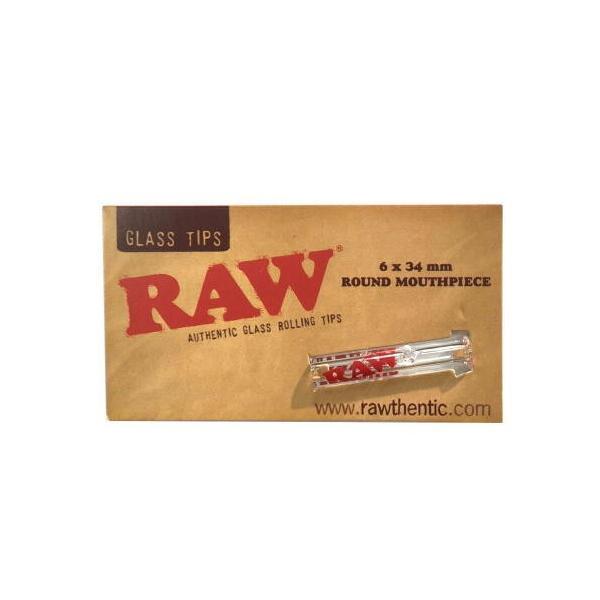 RAW ガラスチップス ラウンド ロー フィルター 喫煙具 手巻きタバコ シャグ メール便250円対応