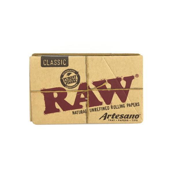 RAW クラシック ローリングペーパー・アルテサーノ 76mm(50枚入+チップ32枚入) 1 1/4 サイズ 手巻きタバコ シャグ ロウ メール便250円対応