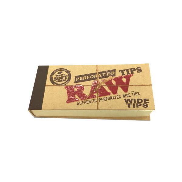 RAW ロー ヘンプコットン ワイドチップス 50枚入り 喫煙具 手巻きタバコ シャグ ロウ  メール便250円対応