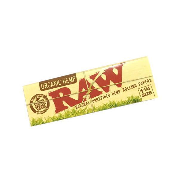 RAW ロー 1 1/4 手巻き用 オーガニックヘンプ ローリングペーパー 76mm シャグ 喫煙具 ロウ メール便250円対応