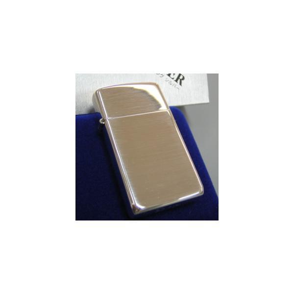 ジッポ ジッポーライター zippo スターリングシルバー 純銀製 スリム ハイポリッシュ仕上げ ミラー 鏡面