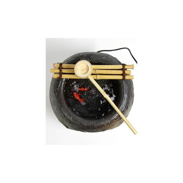 【送料無料】信楽焼つくばい水月かけひ!陽炎/水音の電動ツク ...
