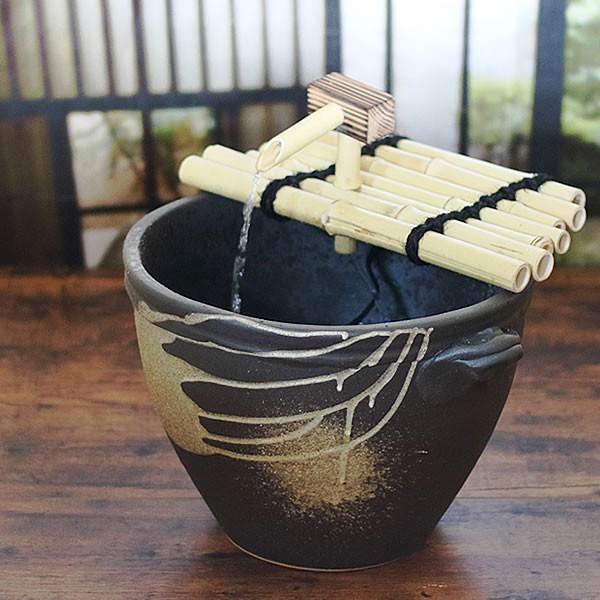 信楽焼 つくばい 水音の電動ツクバイ 循環式 陶器ツクバイ 蹲 ...
