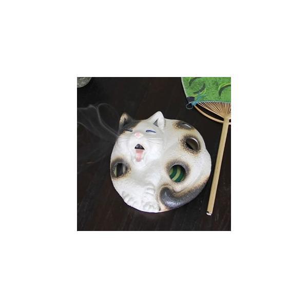 信楽焼 可愛いネコ蚊遣り インテリア おしゃれな陶器蚊やり。ギフトにもお勧め kr-0023 shigaraki 02