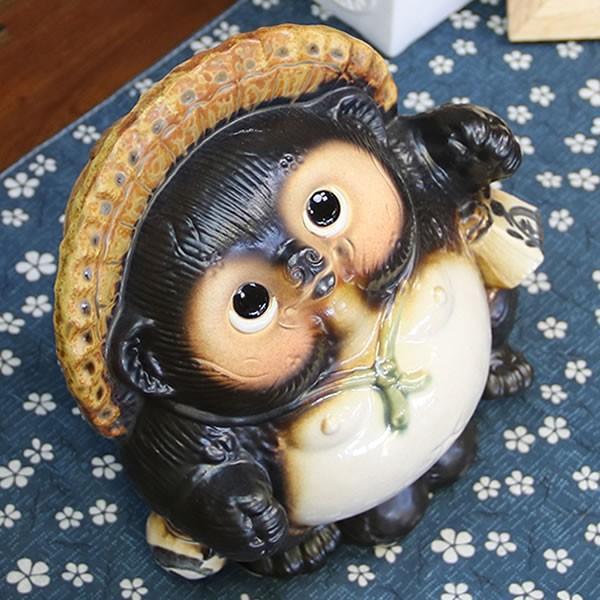 信楽焼 たぬき タヌキ 置き物たぬき タヌキ信楽 陶器タヌキ 狸 陶器 たぬき陶器 6号踊り狸  ta-0195|shigaraki|02