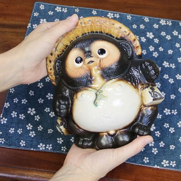 信楽焼 たぬき タヌキ 置き物たぬき タヌキ信楽 陶器タヌキ 狸 陶器 たぬき陶器 6号踊り狸  ta-0195|shigaraki|03