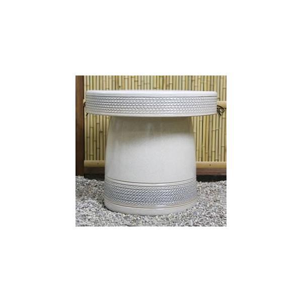 信楽焼 20号  テーブルセット 庭園 ベランダ 陶器 テーブル イス ガーデンテーブルセット te-0020 shigaraki 02