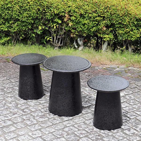 陶器テーブル 信楽焼ガーデンテーブル お庭 ベランダ 庭園セット ガーデンテーブルセット 陶器 イス 信楽焼テーブル ガーデンセット やきもの 庭用 te-0065