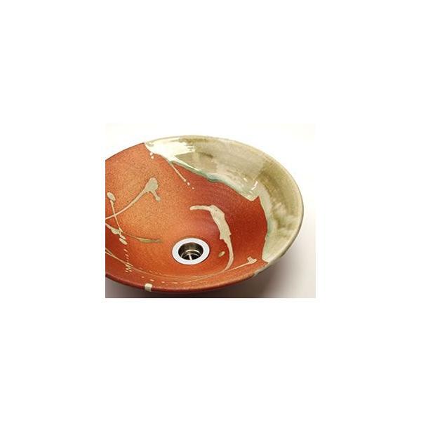 信楽焼 洗面ボウル おしゃれ 洗面ボール 洗面台 和風 手水鉢 手洗い鉢 陶器 洗面鉢 手洗器 鉢 手洗い器 tr-2110|shigaraki|03