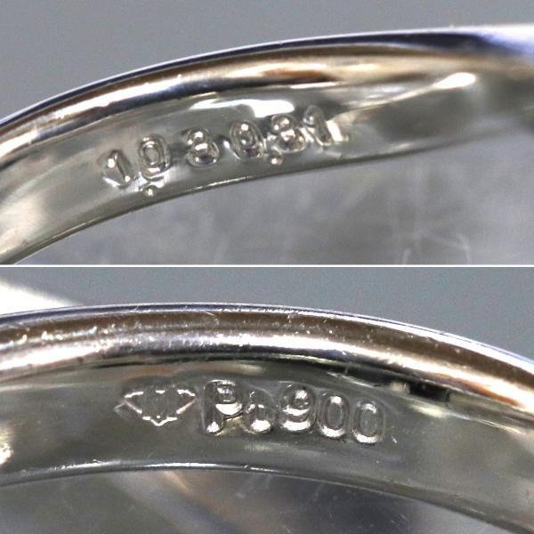 Pt900 ダイヤモンド ファッション リング(D1.03,D0.31,6.1g,#11)