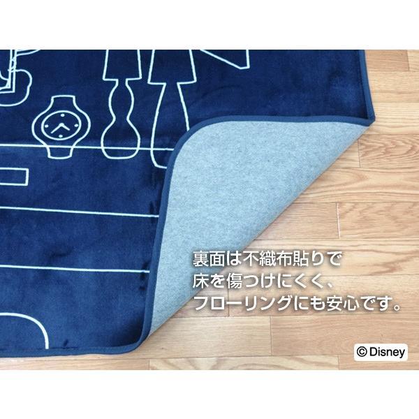 ミッキー ラグ カーペット 洗えるラグ ライン/ミッキー ネイビー 約200×250cm 約3畳 フランネル ホットカーペット対応|shikimonoya5o5o|04