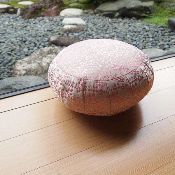 33cm幅 ボタニカルピンク 座禅 ヨガに最適 座布団 瞑想 座禅 yoga クッション 送料無料の日本製