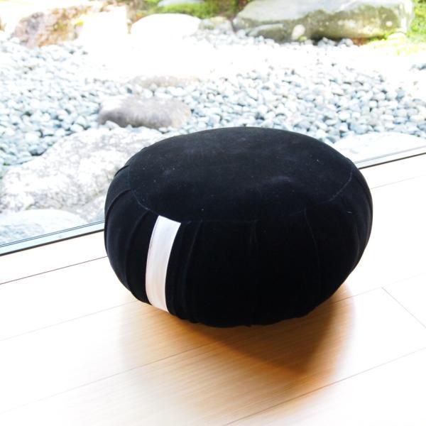 33cm幅 黒ビロード 座禅 ヨガに最適 座布団 瞑想 座禅  yoga クッション 送料無料の日本製