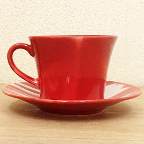 コーヒーカップ ソーサー マーブル 赤 和陶器 おしゃれ 美濃焼 業務用  9a778-18-6g shikisaionline 02