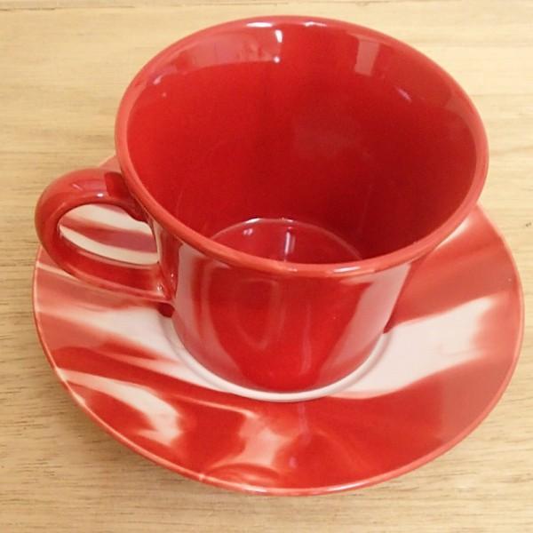 コーヒーカップ ソーサー マーブル 赤 和陶器 おしゃれ 美濃焼 業務用  9a778-18-6g shikisaionline 05