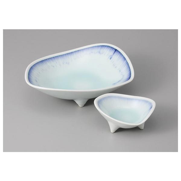 刺身鉢 ちょこ 醤油皿 セット 青白磁藍流し 強化磁器 刺身皿 和食器 業務用 美濃焼  9a19-1-2|shikisaionline