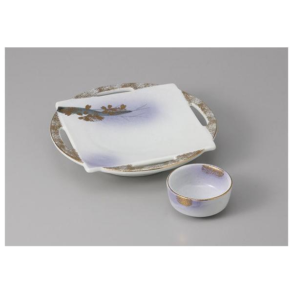 刺身皿 ちょこ 醤油皿 セット 花がすみ 和食器 業務用 美濃焼  9a19-25-26|shikisaionline