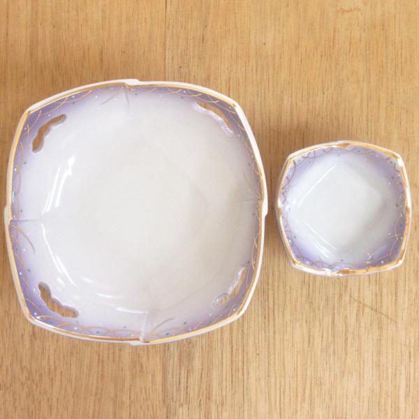 刺身鉢 ちょこ 醤油皿 セット 紫武蔵野四方 刺身皿 和食器 業務用 美濃焼  9a18-9-10|shikisaionline|03