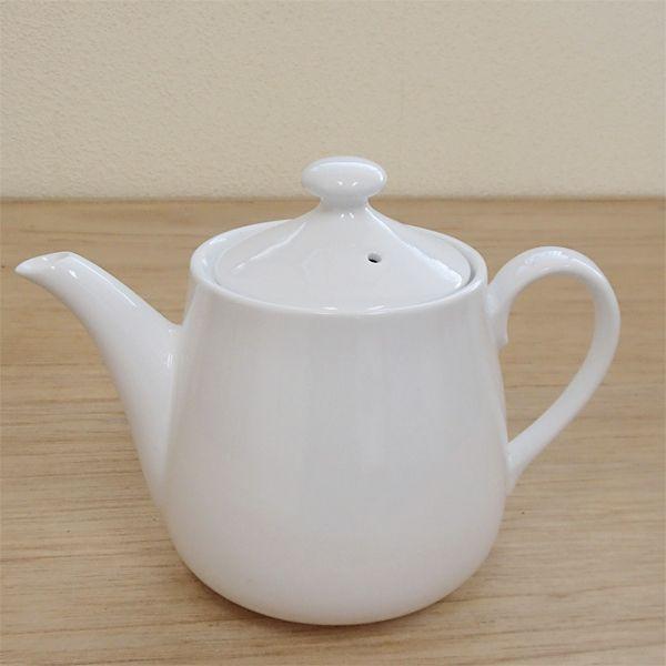 ティーポット 白 小 強化磁器 業務用食器 カフェ 食器 5y680-14-673 shikisaionline