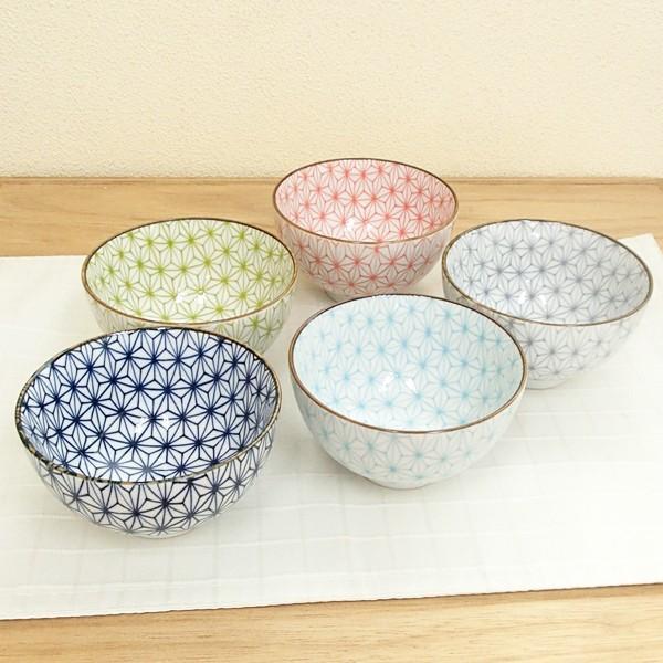 ご飯茶碗 5個セット 麻の葉 箱入り ギフト プレゼント 和柄 日本製 a2077-4