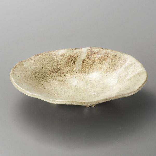 刺身鉢 向付 新粉引タタラ三足鉢 おしゃれ 和食器 業務用 美濃焼 9d06521-038