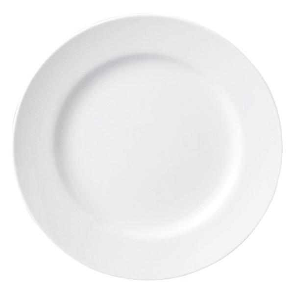 リムプレート 19cm皿 7.5インチ ホテルベーシック 玉渕 白 洋食器 業務用 9d68508-478|shikisaionline