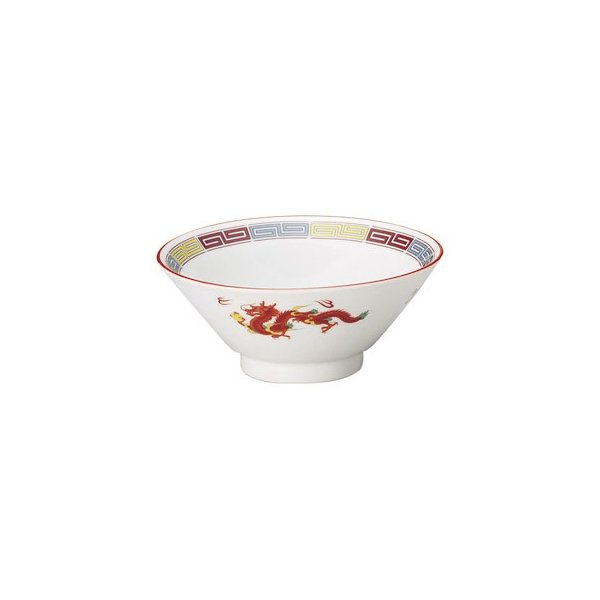 ライス碗 4.8ライス碗 三色雷紋 中華食器 業務用 美濃焼 9d76009-038|shikisaionline