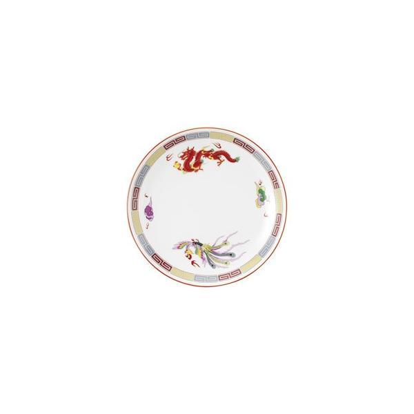 玉渕メタ8インチ皿 三色雷紋 おしゃれ 中華食器 業務用 美濃焼 9d76015-038|shikisaionline