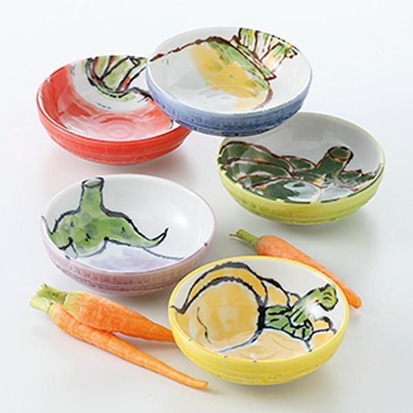 和食器 小鉢 5個セット 京野菜 3寸小鉢 箱入り プレゼント ギフト 父の日 母の日 敬老の日 a2098-2