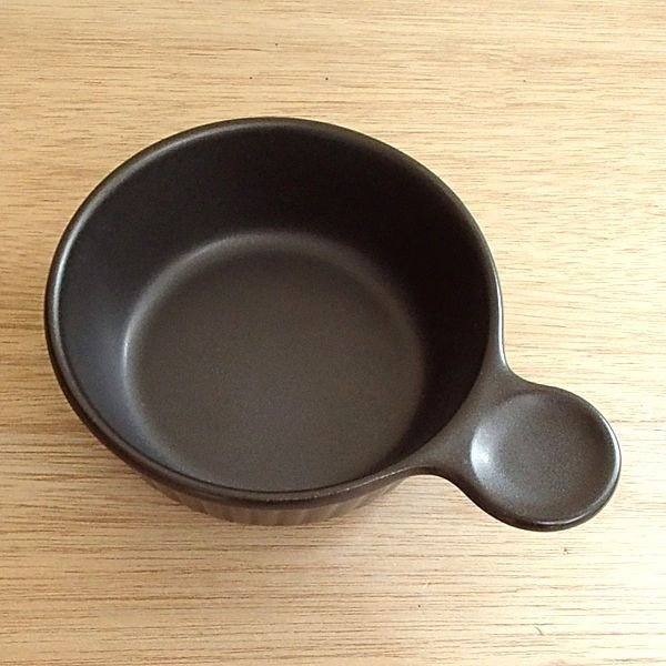 片手グラタン皿 アヒージョ鍋 直火対応 片手スープ ブラックセラム shikisaionline 02