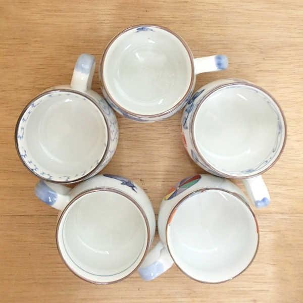 コーヒーカップソーサー5客セット 染錦絵変り 箱入り ギフト プレゼント 7a67-5|shikisaionline|05