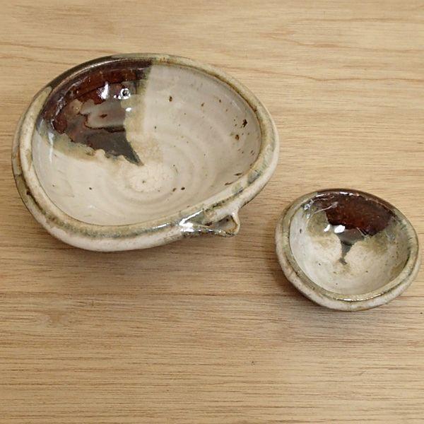 刺身鉢 小皿 セット 朝鮮唐津 片口向付 変形珍味 業務用 美濃焼 9b017-20-21|shikisaionline