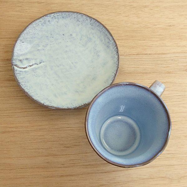 コーヒーカップソーサー 布目入うのふ 和陶器 おしゃれ 業務用 美濃焼 9b464-04|shikisaionline|02