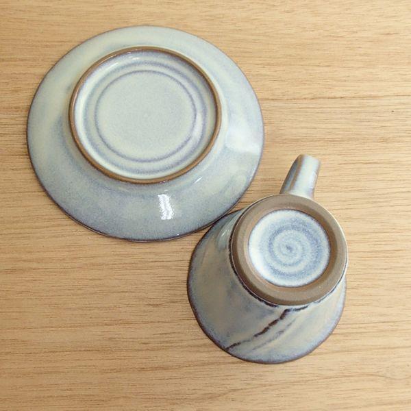 コーヒーカップソーサー 布目入うのふ 和陶器 おしゃれ 業務用 美濃焼 9b464-04|shikisaionline|03