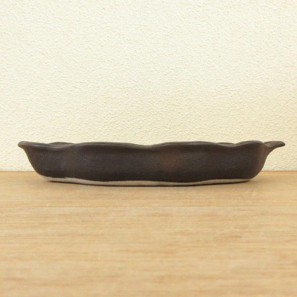 仕切皿 刺身皿 木の葉型 備前 21.8cm 和食器 業務用 美濃焼 8y228-05-684|shikisaionline|03