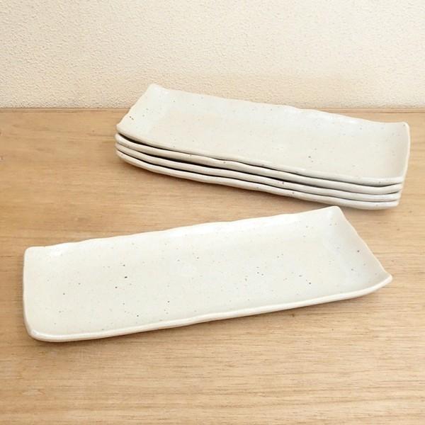 長皿 さんま皿 焼き物皿 魚皿 小倉粉引 27cm 焼き魚 5枚セット 和食器|shikisaionline|02